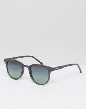 Komono Круглые солнцезащитные очки Devon Neutro. Цвет: черный
