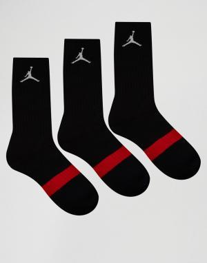 Jordan Набор из 3 пар черных носков Nike SX5241-013. Цвет: черный