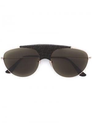 Солнцезащитные очки Lèon Belloccio Retrosuperfuture. Цвет: коричневый