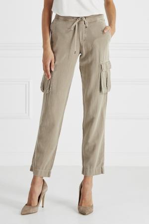 Хлопковые брюки James Perse. Цвет: бежевый