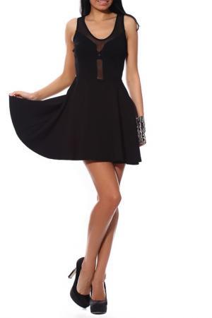 Платье-миди классическое PunkQueen. Цвет: черный