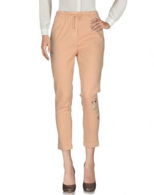 Повседневные брюки MYTHS. Цвет: светло-розовый