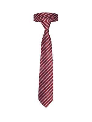 Классический галстук Рисковый игрок в диагональную полоску Signature A.P.. Цвет: красный, белый, розовый