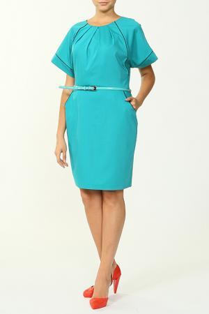Платье с ремнем NIKA. Цвет: ментоловый