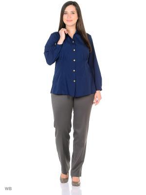 Блузка AMAZONE. Цвет: синий