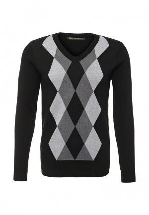 Пуловер Blue Fashion. Цвет: черно-белый