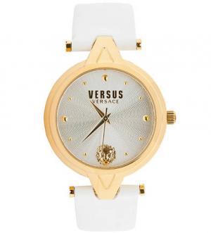Кварцевые часы с белым кожаным браслетом VERSUS