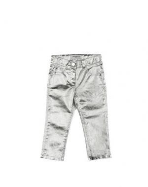 Повседневные брюки SIMONETTA MINI. Цвет: серебристый