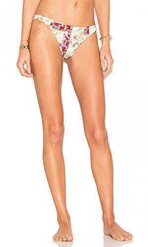 Кокетливые плавки-бикини sunflower Agua Bendita. Цвет: розовый
