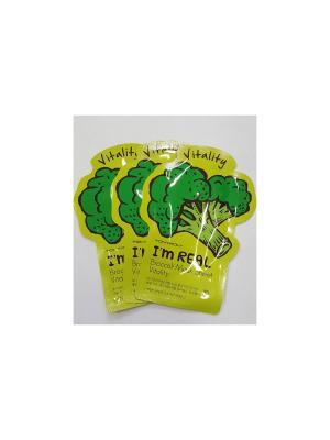 Набор тканевых масок витаминная I AM REAL (брокколи),3шт*21 мл Tony Moly. Цвет: белый