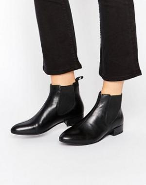 Vagabond Черные кожаные ботинки челси. Цвет: черный