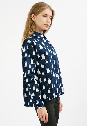 Рубашка Monoroom. Цвет: синий