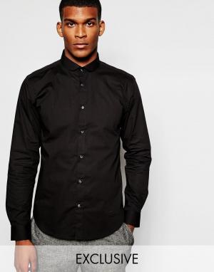 Wincer & Plant Облегающая строгая рубашка эксклюзивно для. Цвет: черный