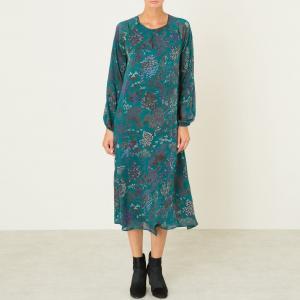 Платье длинное TORRE DRESS MES DEMOISELLES. Цвет: зеленый,черный