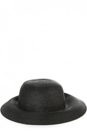 Шляпа с брошью Eric Javits. Цвет: черный