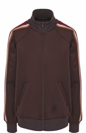 Кардиган на молнии с воротником-стойкой Marc Jacobs. Цвет: коричневый