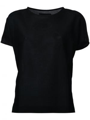 Crew neck T-shirt Lemaire. Цвет: чёрный