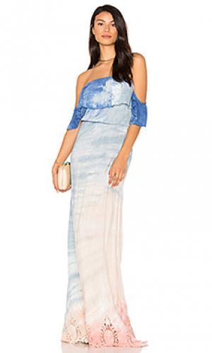 Платье aidy Young Fabulous & Broke. Цвет: розовый