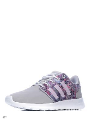 Кроссовки CLOUDFOAM QT RACER  CLONIX/LGTORC/FTWWHT Adidas. Цвет: серый, белый, сиреневый