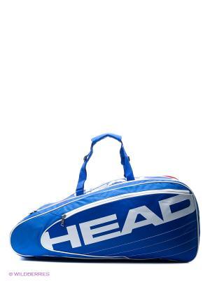 Сумка Elite Combi HEAD. Цвет: синий, белый