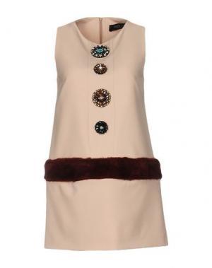 Короткое платье NORA BARTH. Цвет: бежевый