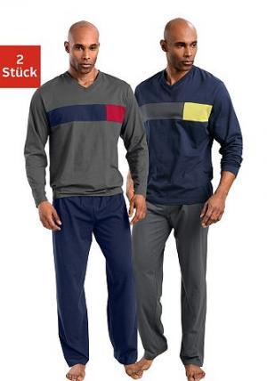 Пижама, Le Jogger (2 шт.). Цвет: синий + серый