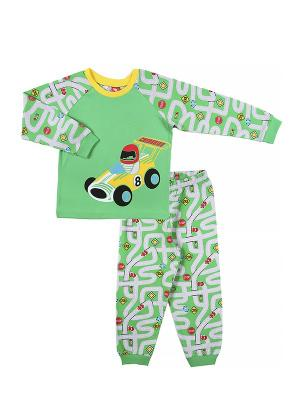 Пижама для мальчика Cherubino. Цвет: зеленый