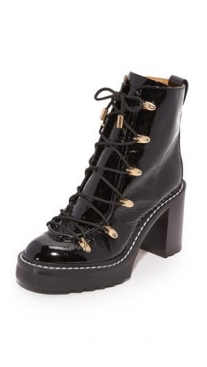 Ботинки на шнуровке Sanne Rag & Bone. Цвет: голубой