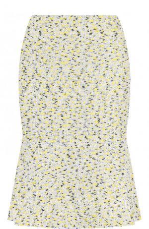 Буклированная мини-юбка с оборкой St. John. Цвет: желтый