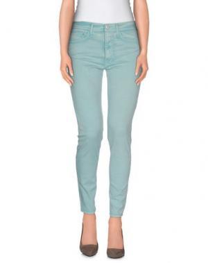 Повседневные брюки CYCLE. Цвет: бирюзовый