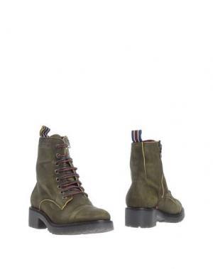 Полусапоги и высокие ботинки D'ACQUASPARTA. Цвет: зеленый