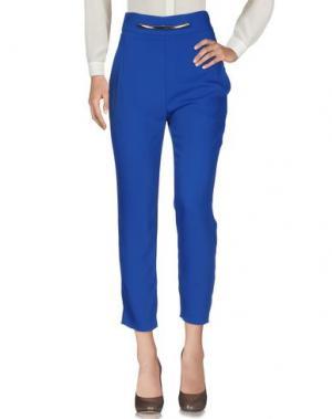 Повседневные брюки NINA AGHEN. Цвет: ярко-синий