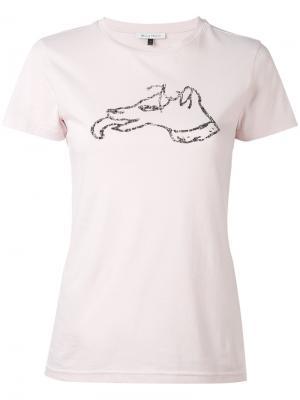 Футболка в горошек Bella Freud. Цвет: розовый и фиолетовый