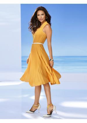 Платье Ashley Brooke. Цвет: желтый, молочно-белый, черный