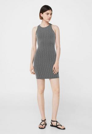 Платье Mango. Цвет: серебряный