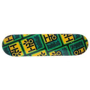 Дека для скейтборда  S5 Pod Compressed Small 32 x 8.125 (20.6 см) Habitat. Цвет: зеленый,желтый