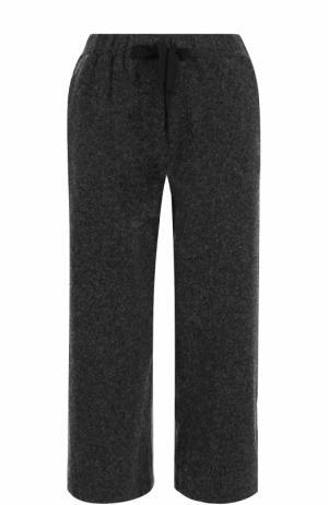 Укороченные шерстяные брюки с карманами Deha. Цвет: серый