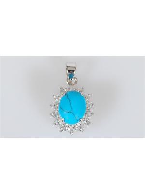Кулон Lotus Jewelry. Цвет: серебристый, синий