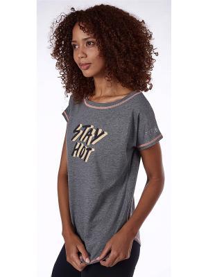 Спортивная футболка Skiny. Цвет: антрацитовый