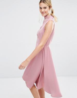 Keepsake Платье мини Break Even. Цвет: розовый