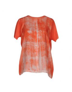 Блузка CIVIDINI. Цвет: лососево-розовый