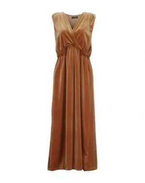 Длинное платье ALLURE. Цвет: охра