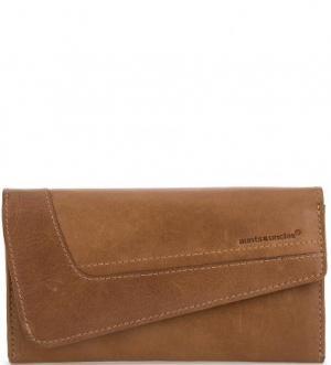 Кожаный кошелек с откидным клапаном aunts & uncles. Цвет: коричневый