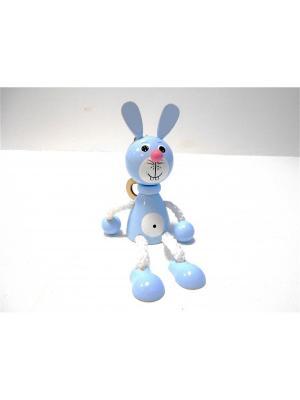 Игрушка подвеска на пружине - Заяц голубой Taowa. Цвет: голубой