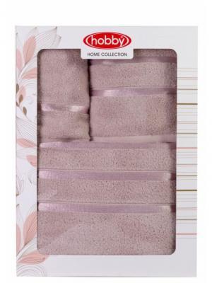 Махровое полотенце в коробке 30x50+50x90+70x140 DOLCE св.лиловое,100% хлопок HOBBY HOME COLLECTION. Цвет: сиреневый