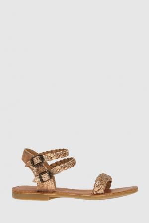 Плетеные сандалии Shwik. Цвет: розовый