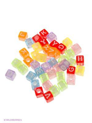 Кубики с буквами для плетения Loom Bands. Цвет: лазурный, зеленый, голубой, желтый, черный