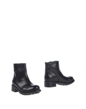 Полусапоги и высокие ботинки FABBRICA MORICHETTI. Цвет: черный