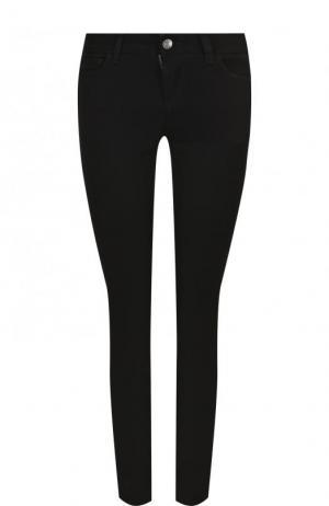 Укороченные джинсы-скинни с контрастной отделкой Dolce & Gabbana. Цвет: черный