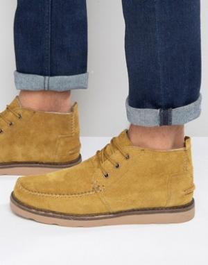 Toms Замшевые ботинки чукка. Цвет: рыжий